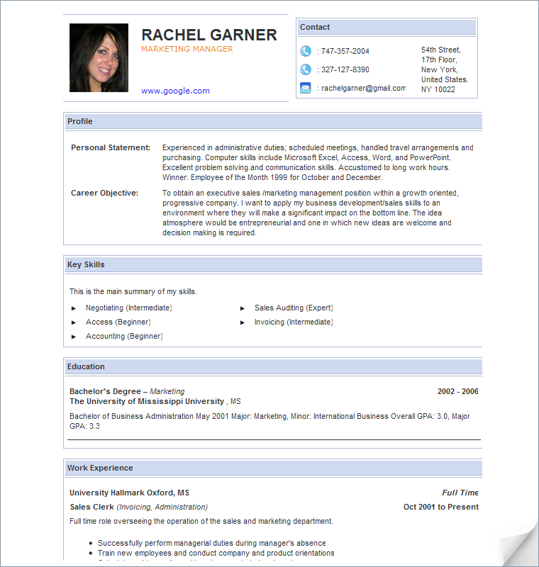 my blog resume sample for accounting jobs - Sample Resume For Job Seekers